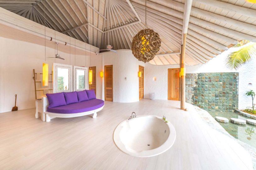 Soneva Jani Luxury Resort - Noonu Atoll, Medhufaru, Maldives - 3 Bedroom Island Reserve Villa Outdoor Soaker Tub