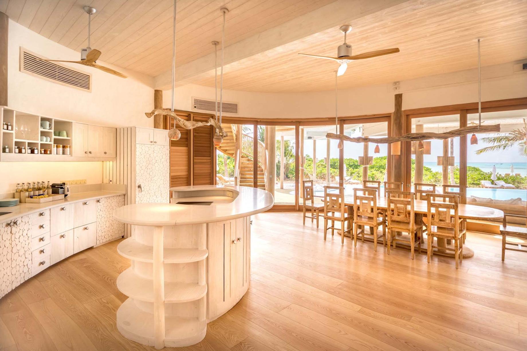 Soneva Jani Luxury Resort – Noonu Atoll, Medhufaru, Maldives – 3 Bedroom Island Reserve Villa Kitchen