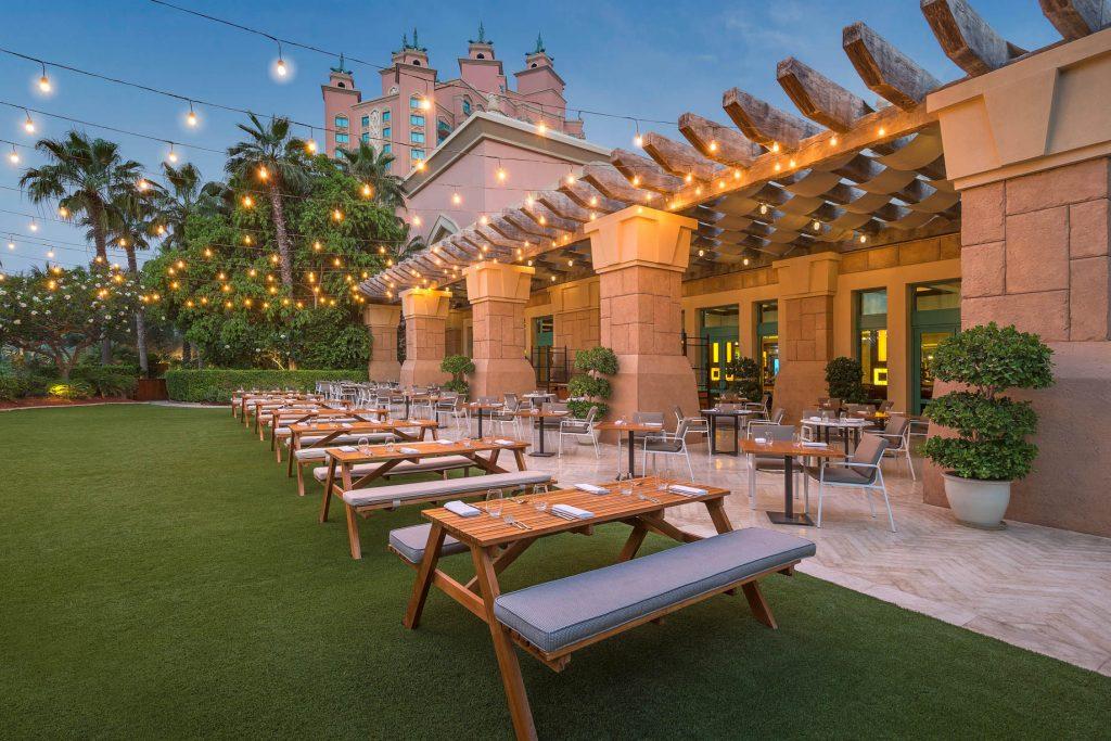 Atlantis The Palm Luxury Resort - Crescent Rd, Dubai, UAE - Bread Street Kitchen and Bar Exterior
