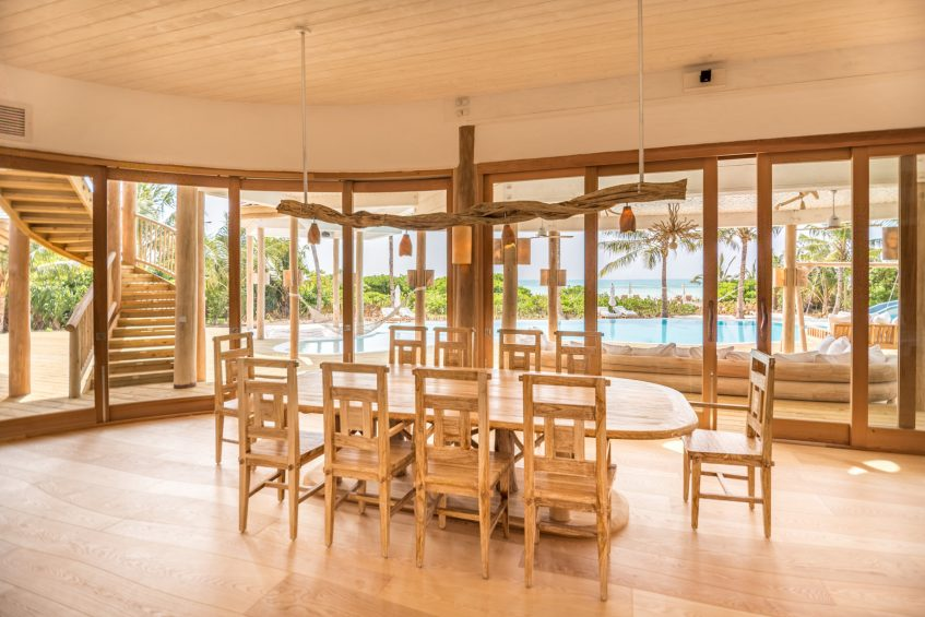 Soneva Jani Luxury Resort - Noonu Atoll, Medhufaru, Maldives - 3 Bedroom Island Reserve Villa Dining Table
