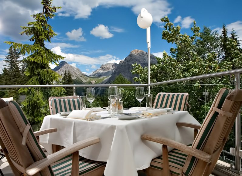 Tschuggen Grand Luxury Hotel - Arosa, Switzerland - Outdoor Dining