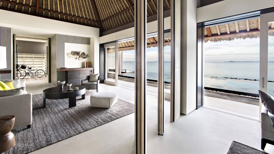 Cheval Blanc Randheli Luxury Resort - Noonu Atoll, Maldives - Overwater Villa Living Room Ocean View