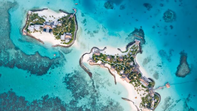 Cheval Blanc Randheli Luxury Resort - Noonu Atoll, Maldives - Private Island Resort Overhead Aerial View