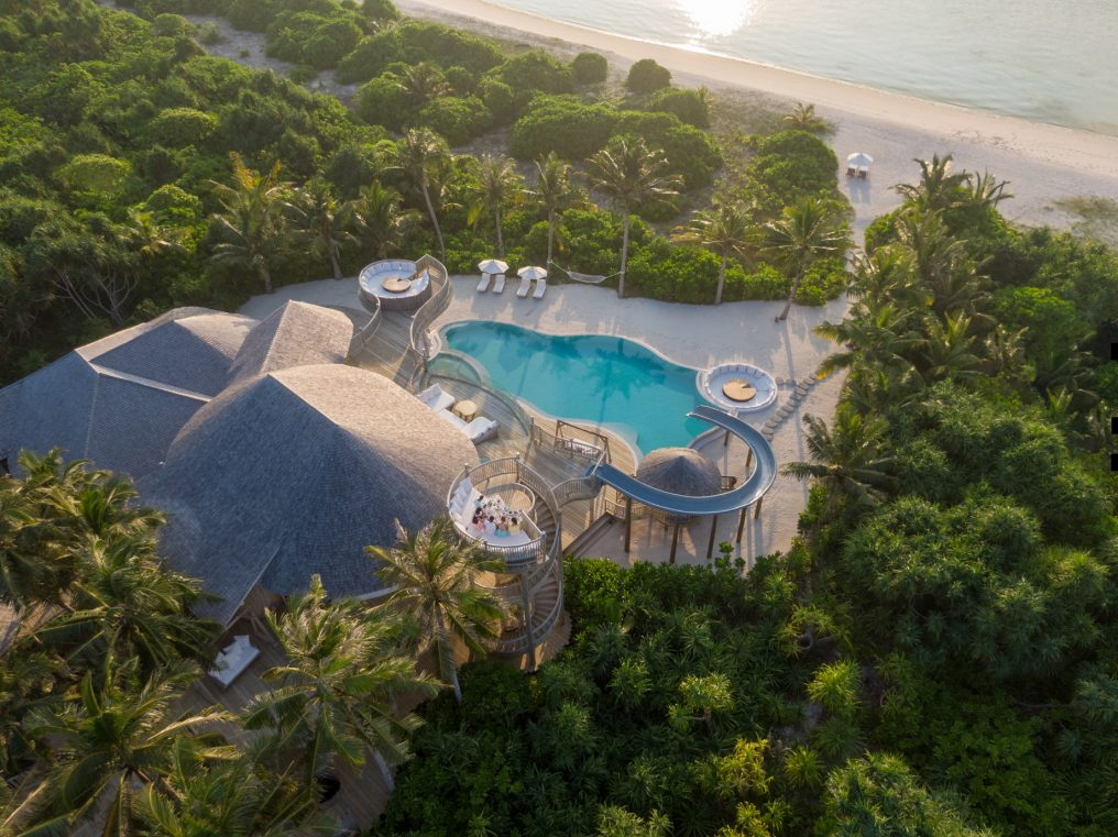 Soneva Jani Luxury Resort - Noonu Atoll, Medhufaru, Maldives - 3 Bedroom Island Reserve Villa Beachfront Aerial