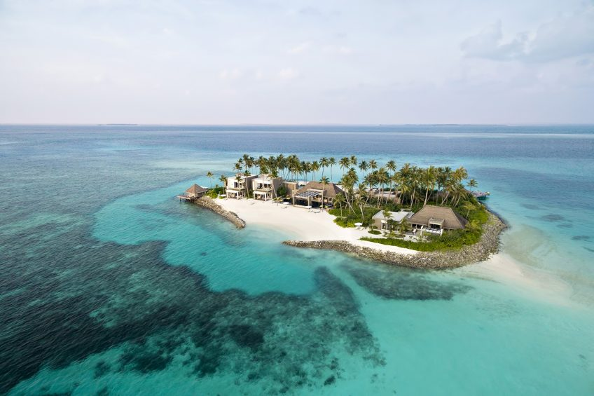 Cheval Blanc Randheli Luxury Resort - Noonu Atoll, Maldives - Private Island Aerial View