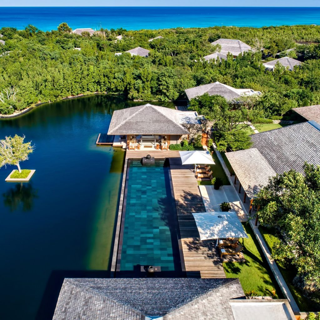Amanyara Luxury Resort - Providenciales, Turks and Caicos Islands - Villa Infinity Pool Aerial