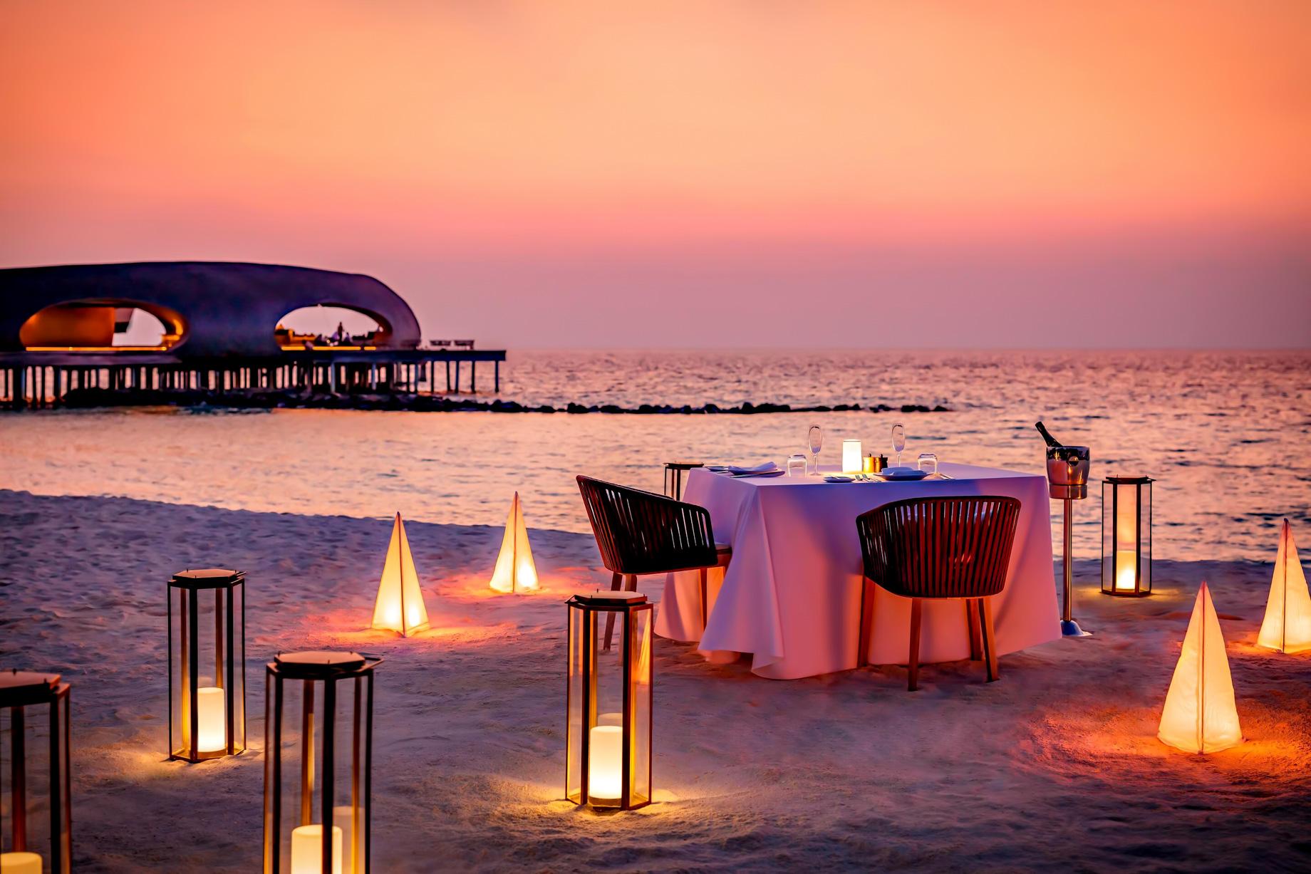 The St. Regis Maldives Vommuli Luxury Resort - Dhaalu Atoll, Maldives - Private Beach Dinner