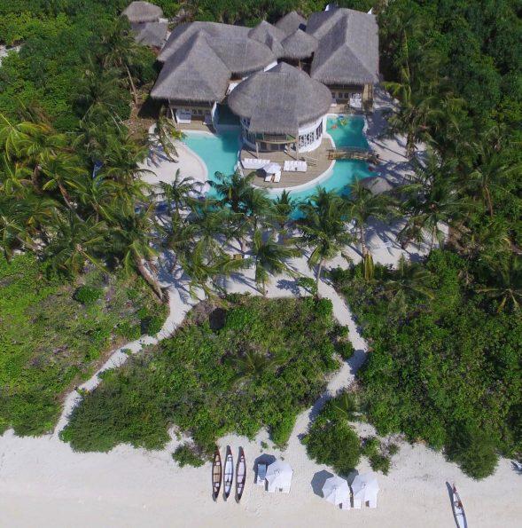 Soneva Jani Luxury Resort - Noonu Atoll, Medhufaru, Maldives - 4 Bedroom Island Reserve Villa Beachfront Aerial