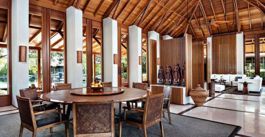 Amanyara Luxury Resort - Providenciales, Turks and Caicos Islands - Villa Dining Living Room