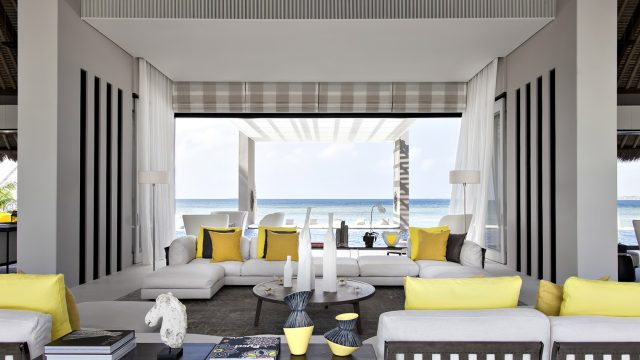 Cheval Blanc Randheli Luxury Resort - Noonu Atoll, Maldives - Exclusive Private Island Villa Living Room Ocean View