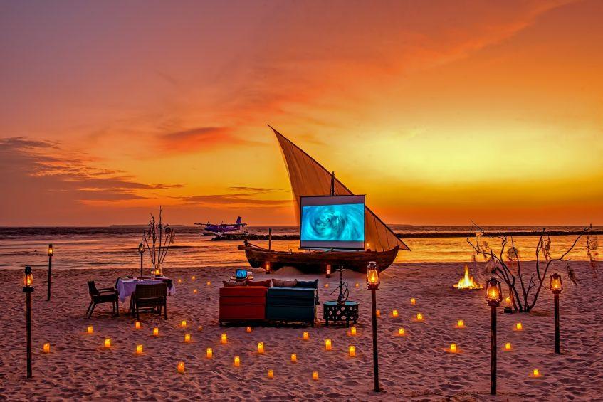 The Nautilus Maldives Luxury Resort - Thiladhoo Island, Maldives - Beach Movie Night