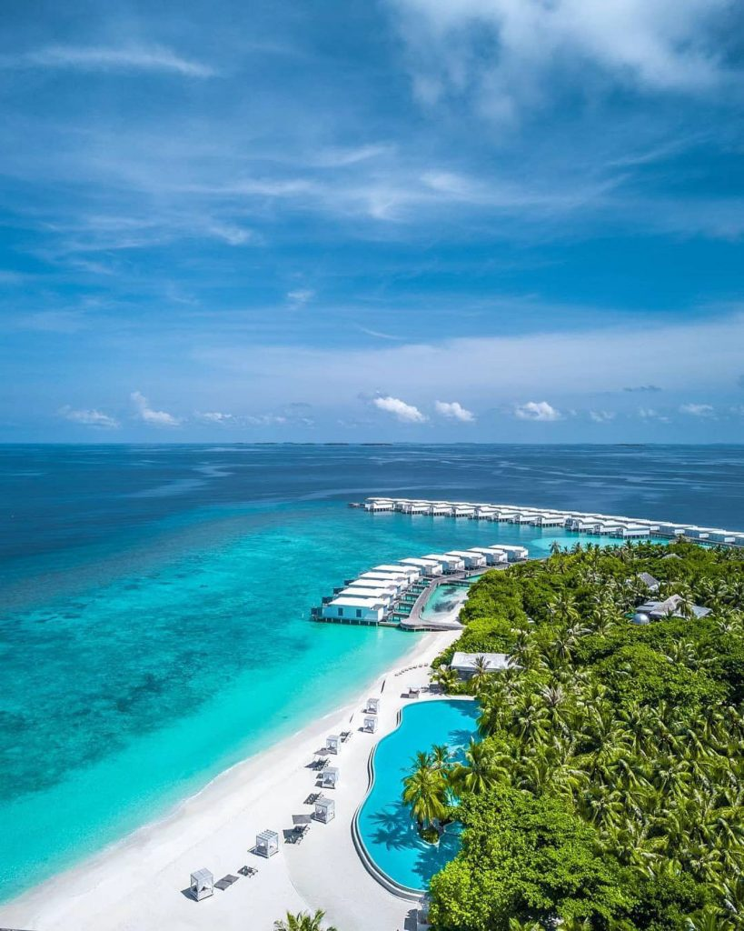 Amilla Fushi Luxury Resort and Residences - Baa Atoll, Maldives - Resort Overwater Villas Aerial