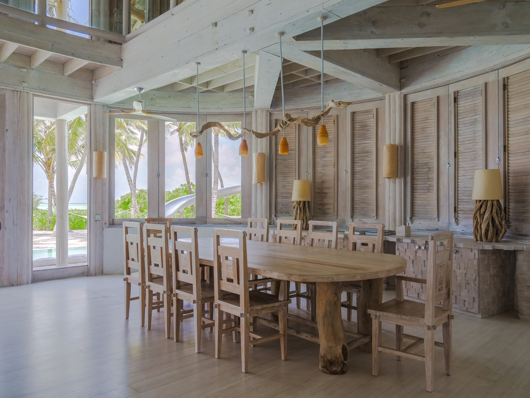 Soneva Jani Luxury Resort – Noonu Atoll, Medhufaru, Maldives – 4 Bedroom Island Reserve Villa Dining Table