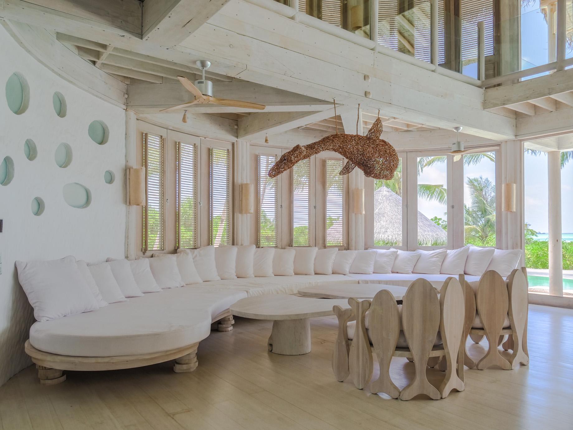 Soneva Jani Luxury Resort – Noonu Atoll, Medhufaru, Maldives – 4 Bedroom Island Reserve Villa Living Area Lounge