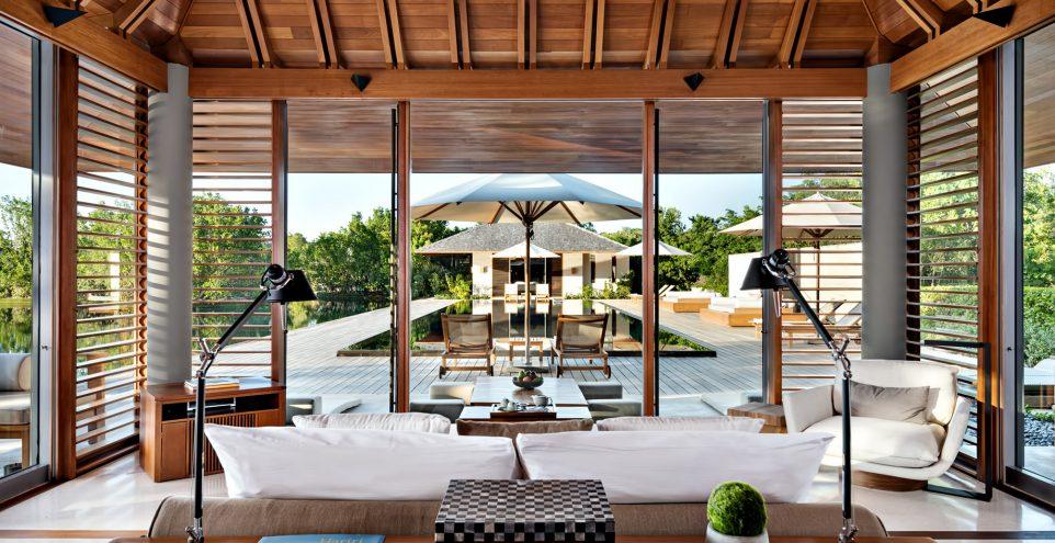Amanyara Luxury Resort - Providenciales, Turks and Caicos Islands - Villa Bedroom Pool View