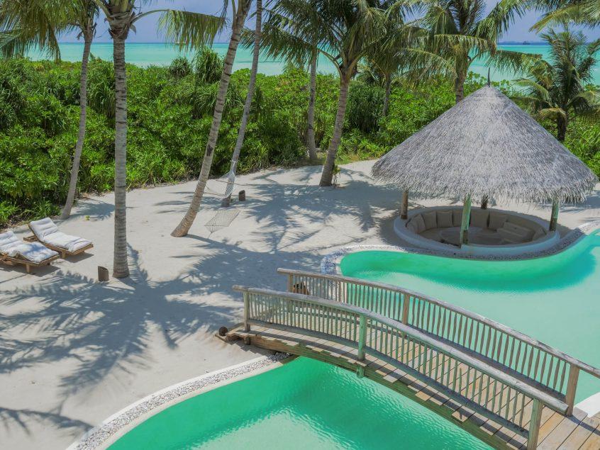Soneva Jani Luxury Resort - Noonu Atoll, Medhufaru, Maldives - 4 Bedroom Island Reserve Villa Exterior Pool Bridge