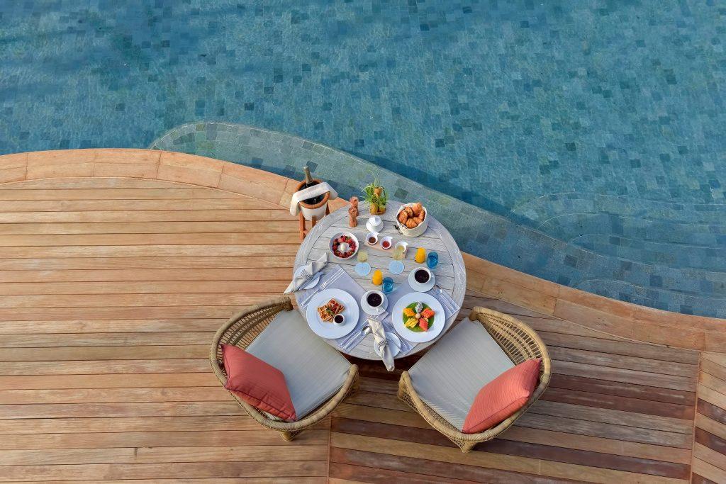 The Nautilus Maldives Luxury Resort - Thiladhoo Island, Maldives - Poolside Dining
