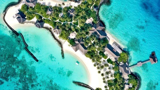 Cheval Blanc Randheli Luxury Resort - Noonu Atoll, Maldives - Exclusive Private Island Overhead Aerial