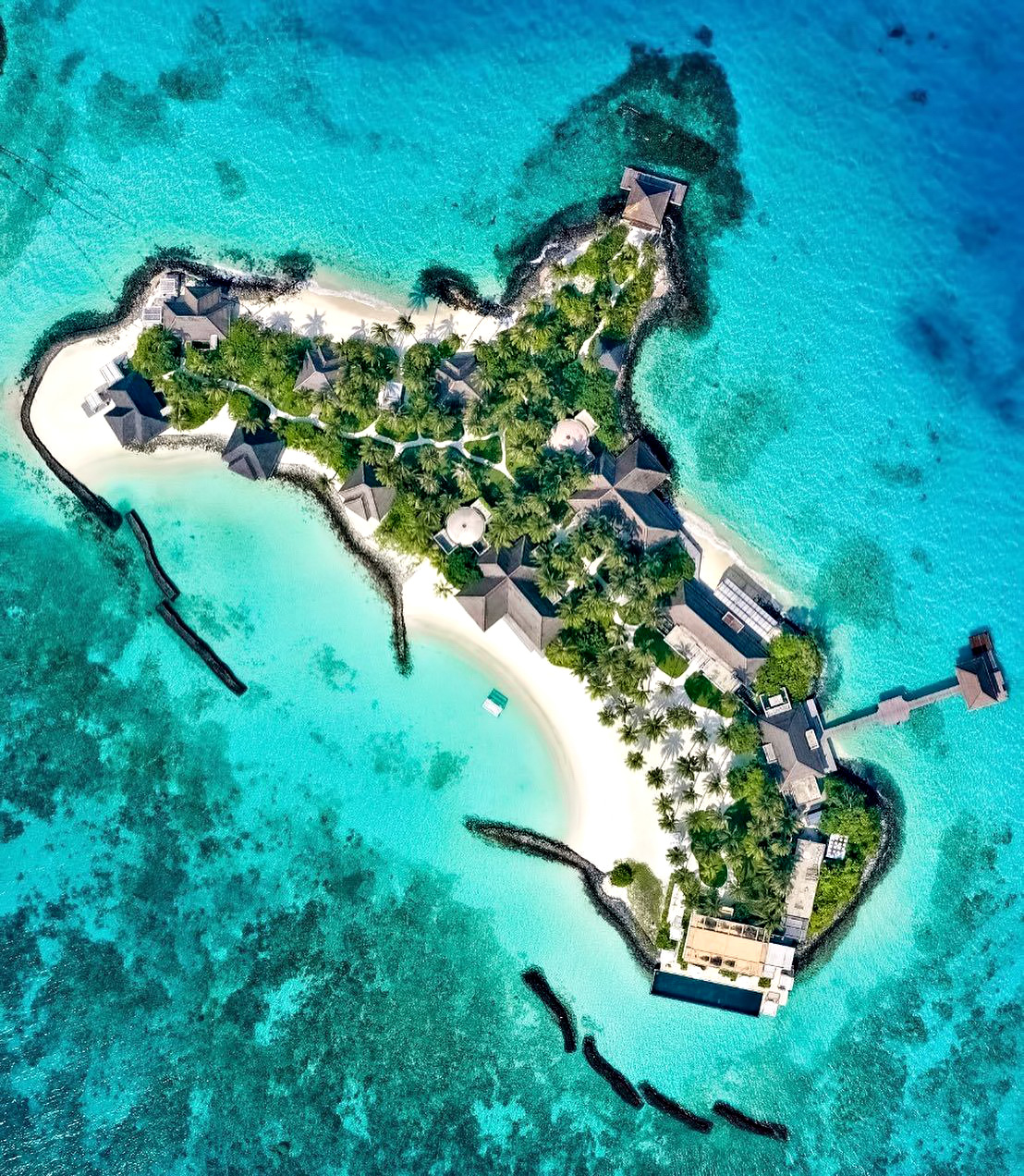 Cheval Blanc Randheli Luxury Resort - Noonu Atoll, Maldives - Exclusive Private Island Overhead Aerial