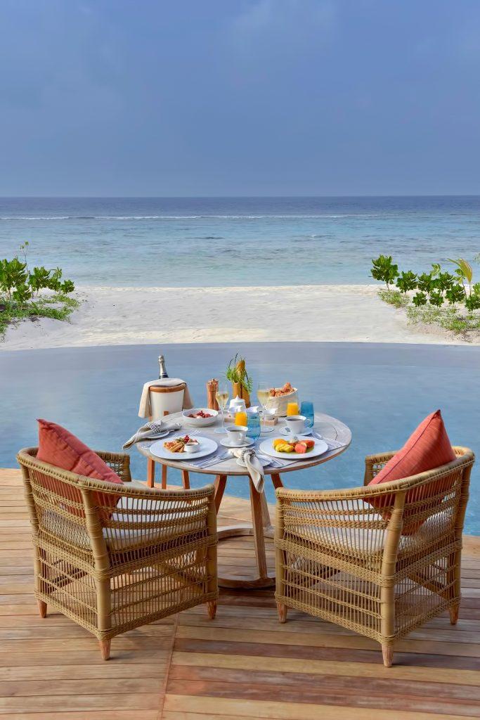 The Nautilus Maldives Luxury Resort - Thiladhoo Island, Maldives - Poolside Beachfront Dining