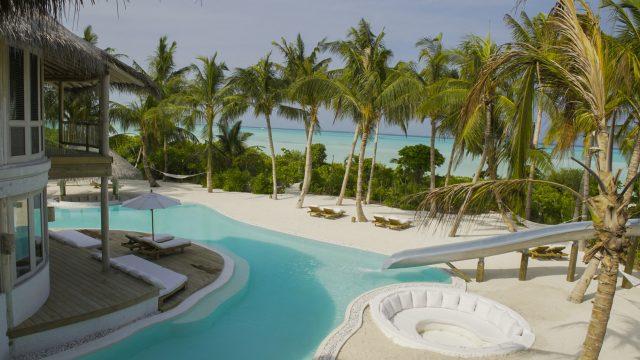 Soneva Jani Luxury Resort - Noonu Atoll, Medhufaru, Maldives - 4 Bedroom Island Reserve Villa Beachfront Pool Water Slide