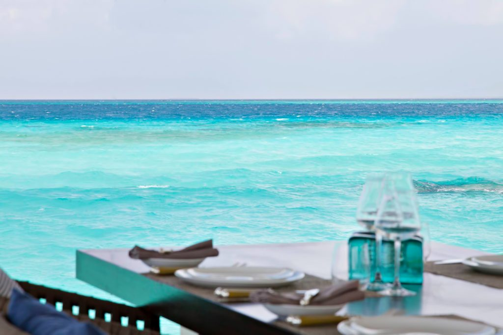 Cheval Blanc Randheli Luxury Resort - Noonu Atoll, Maldives - Private Island Dining Table Ocean View