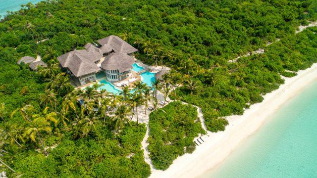 Soneva Jani Luxury Resort - Noonu Atoll, Medhufaru, Maldives - 4 Bedroom Island Reserve Villa Beachfront Aerial View
