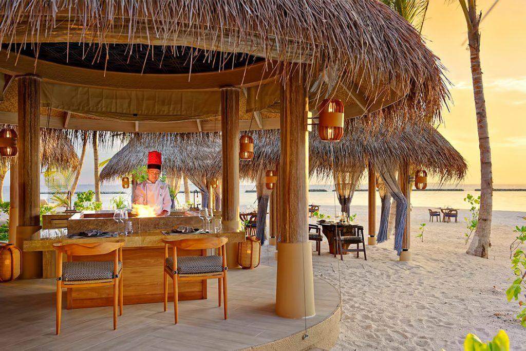 The Nautilus Maldives Luxury Resort - Thiladhoo Island, Maldives - Beachfront Dining Lounge