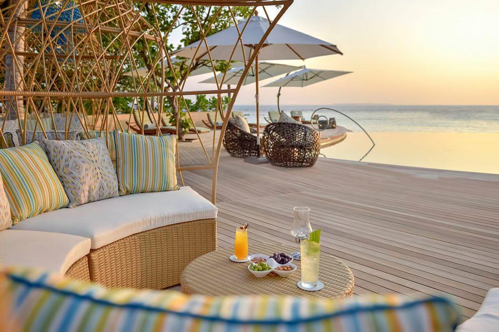 The Nautilus Maldives Luxury Resort - Thiladhoo Island, Maldives - Beachfront Poolside Lounge