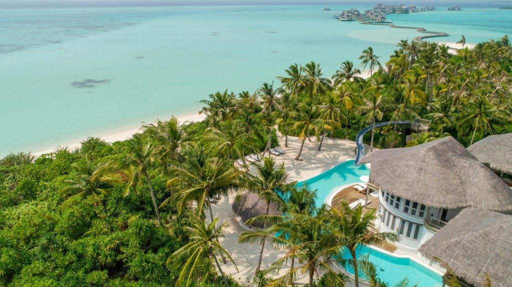 Soneva Jani Luxury Resort - Noonu Atoll, Medhufaru, Maldives - 4 Bedroom Island Reserve Villa Beachfront Aerial Resort View