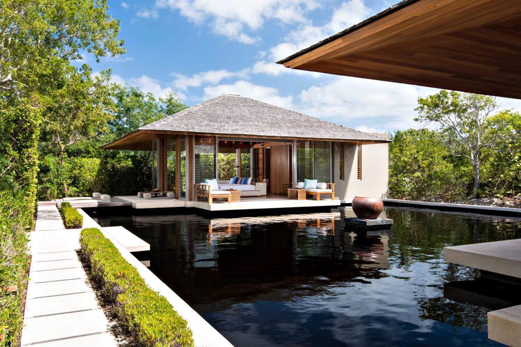 Amanyara Luxury Resort - Providenciales, Turks and Caicos Islands - Villa Bedroom Reflecting Pond Deck View