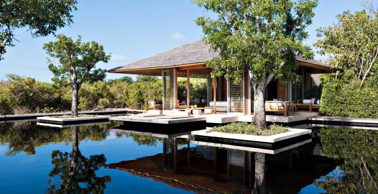 Amanyara Luxury Resort - Providenciales, Turks and Caicos Islands - Villa Bedroom Reflecting Pond Deck