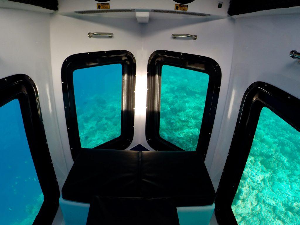 Amilla Fushi Luxury Resort and Residences - Baa Atoll, Maldives - Penguin Glass Bottom Boat Interior