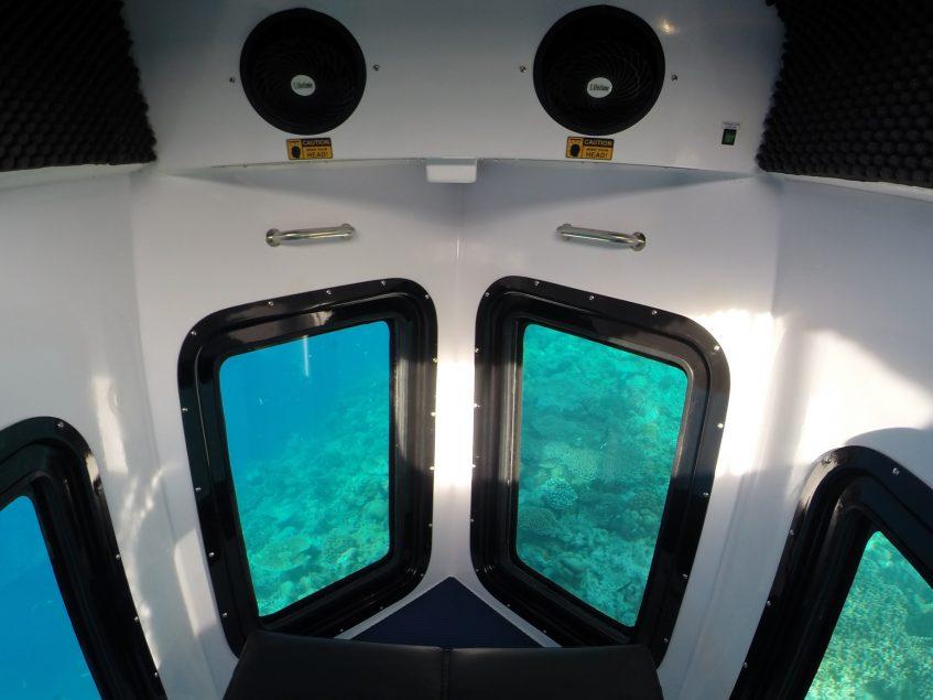 Amilla Fushi Luxury Resort and Residences - Baa Atoll, Maldives - Penguin Glass Bottom Boat Interior Ocean View