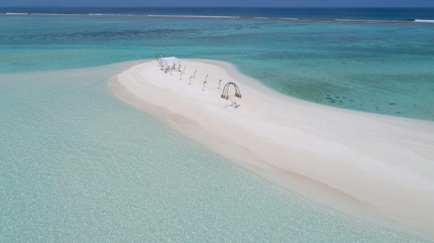 Soneva Jani Luxury Resort - Noonu Atoll, Medhufaru, Maldives - White Sand Tropical Beach Wedding Aerial