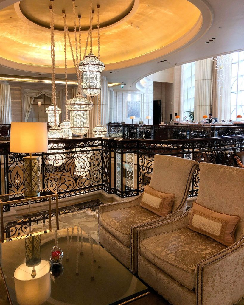 The St. Regis Abu Dhabi Luxury Hotel - Abu Dhabi, United Arab Emirates - Grand Lobby Upper Deck