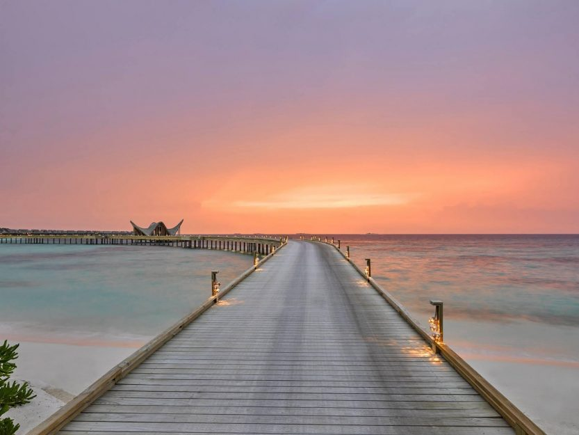 Joali Maldives Luxury Resort - Muravandhoo Island, Maldives - Resort Sunset Boardwalk