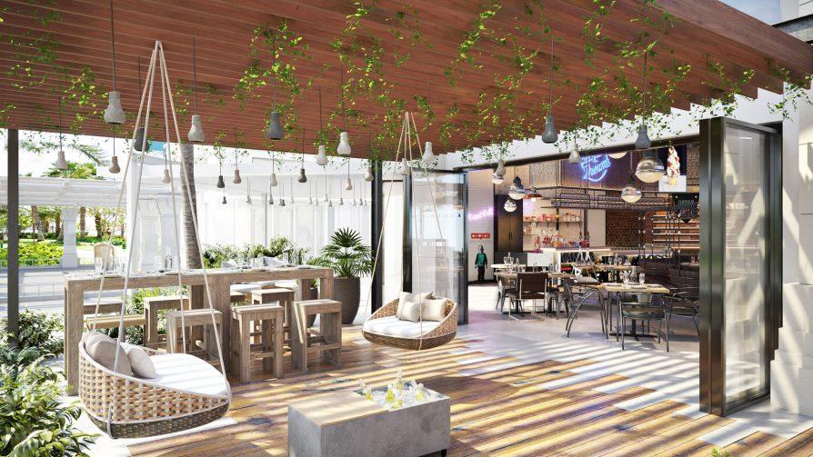 Atlantis The Palm Luxury Resort - Crescent Rd, Dubai, UAE - Beach Buns Restaurant Lounge