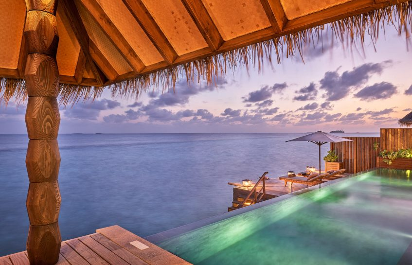 Joali Maldives Luxury Resort - Muravandhoo Island, Maldives - Over Water Pool Sunset
