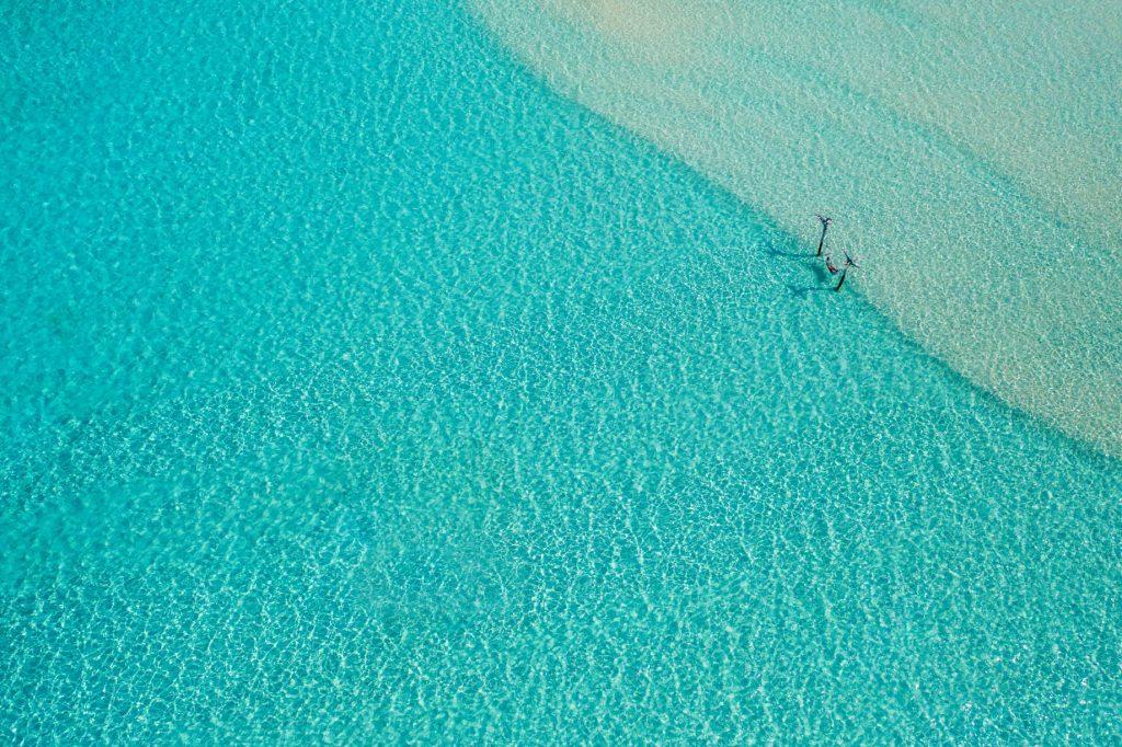 Soneva Jani Luxury Resort - Noonu Atoll, Medhufaru, Maldives - Tropical Ocean Water Hammock Aerial