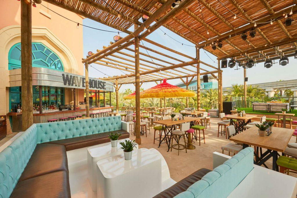 Atlantis The Palm Luxury Resort - Crescent Rd, Dubai, UAE - Wavehouse Restaurant Terrace