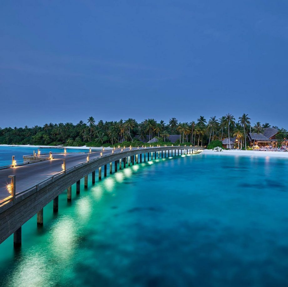 Joali Maldives Luxury Resort - Muravandhoo Island, Maldives - Boardwalk at Dusk