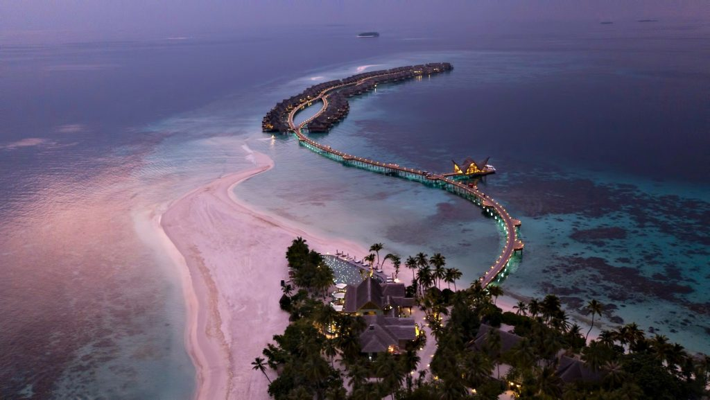 Joali Maldives Luxury Resort - Muravandhoo Island, Maldives - Night Resort Aerial