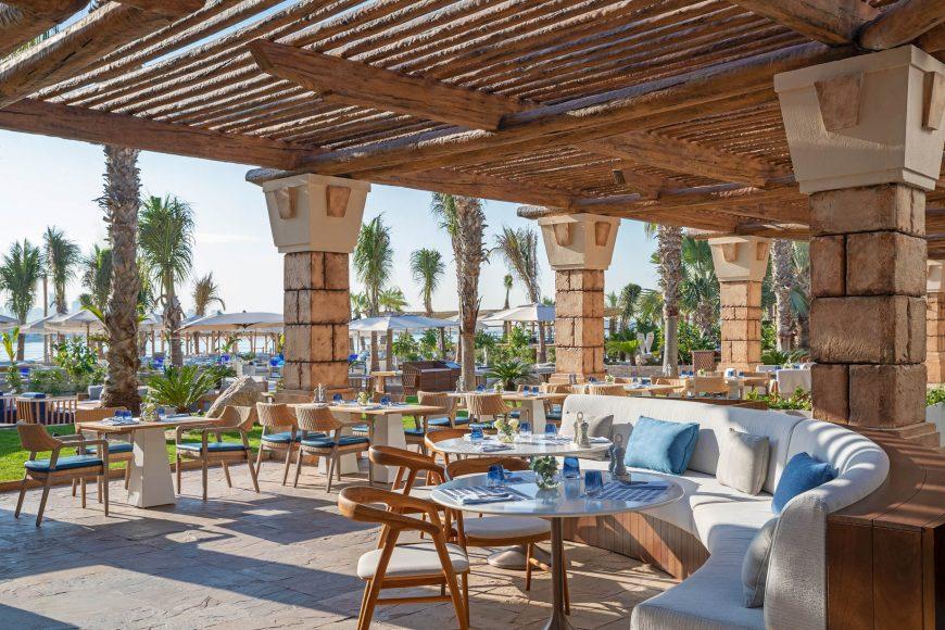 Atlantis The Palm Luxury Resort - Crescent Rd, Dubai, UAE - White Beach and Restaurant Patio