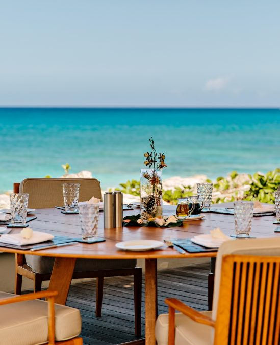 Amanyara Luxury Resort - Providenciales, Turks and Caicos Islands - Oceanfront Tropical Dining