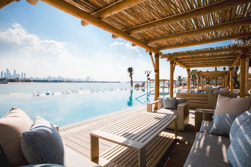Atlantis The Palm Luxury Resort - Crescent Rd, Dubai, UAE - White Beach Club Pool Terrace