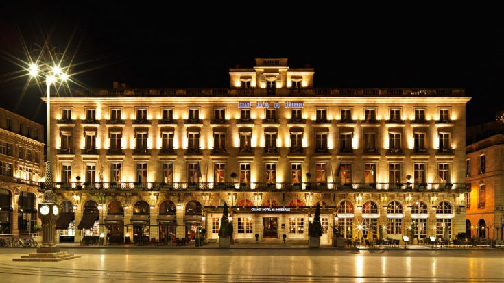InterContinental Bordeaux Le Grand Hotel - Bordeaux, France - Night Front Facade