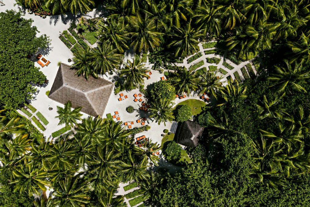 One&Only Reethi Rah Luxury Resort - North Male Atoll, Maldives - Botanica Restaurant Aerial