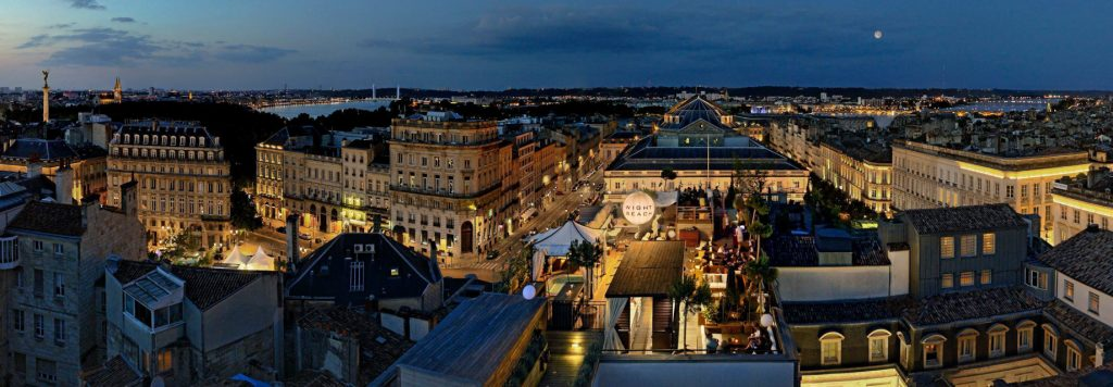 InterContinental Bordeaux Le Grand Hotel - Bordeaux, France - Rooftop Night Beach