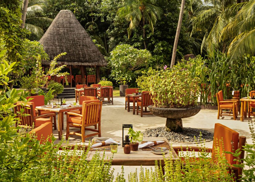 One&Only Reethi Rah Luxury Resort - North Male Atoll, Maldives - Botanica Restaurant Tables